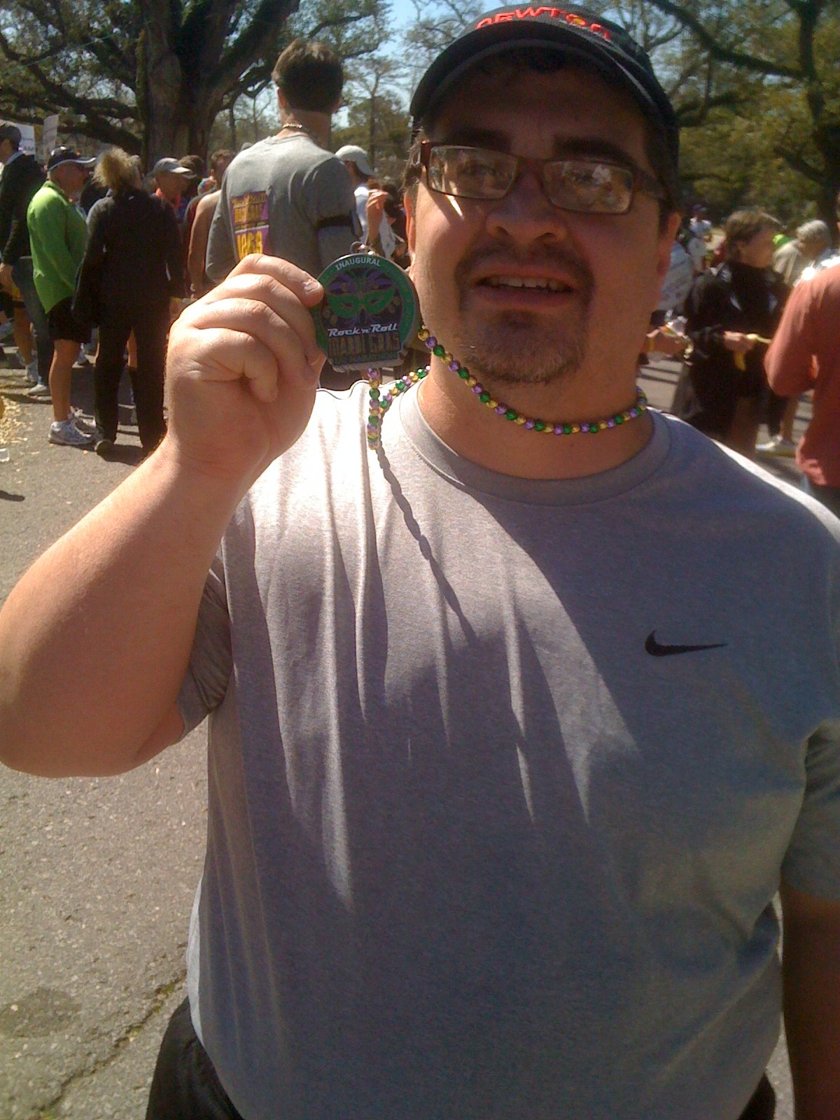 Scott finishes the 2010 Rock and Roll Mardi Gras Half Marathon.