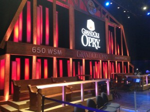 The famed Grand Ole Opry stage.
