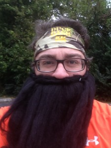 Here I am all geared up for the inaugural Duck Dash 5K.